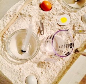 pancakes sensory bin